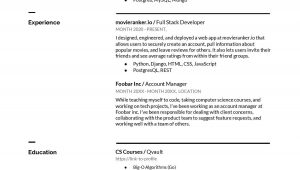 Sample Resume for Computer Science Student Fresher 6 Computer Science Resume Examples for 2021 by Lane Wagner …