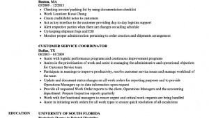 Sample Resume for Customer Service Coordinator Customer Service Coordinator Resume Samples