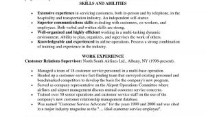Sample Resume for Customer Service Representative No Experience Sample Resume for Customer Service Representative No