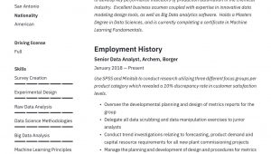 Sample Resume for Data Warehouse Analyst Big Data Analyst (m/f) (data- Warehouse-analyst/in