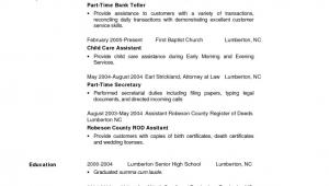 Sample Resume for Entry Level Teller Position Entry Level Bank Resume