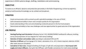 Sample Resume for Experienced Hvac Mechanical Engineer Sahad Yoosuff Yahoo