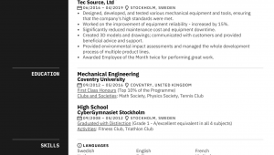 Sample Resume for Experienced Mechanical Engineer Mechanical Engineer Resume Sample