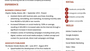 Sample Resume for Experienced Sales and Marketing Professional Marketing Resume Sample & Writing Tips