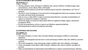 Sample Resume for Experienced Salesforce Developer Resume Salesforce Developer Salesforce Developer Cv Template