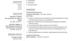 Sample Resume for Fresh Graduate Pharmacist Pharmacist Resume Sample Writing Tips – Resumekraft