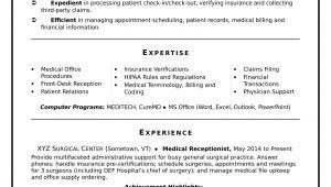 Sample Resume for Front Office Medical assistant Medical Receptionist Resume Sample Monster.com