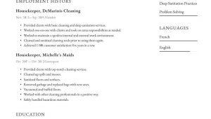 Sample Resume for Hospital Housekeeping Job Housekeeping Resume Examples & Writing Tips 2021 (free Guide)