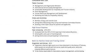 Sample Resume for Hotel and Restaurant Management Graduate Hospitality Management Resume Sample 2021 Writing Tips – Resumekraft