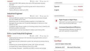 Sample Resume for Industrial Engineer Fresher Industrial Engineer Resume Examples   Expert Advice Enhancv.com