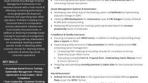 Sample Resume for Insurance Branch Manager Free area Manager – Insurance Resume Sample 2020 by Hiration
