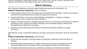 Sample Resume for Lab Manager Position Entry-level Lab Technician Resume Sample Monster.com