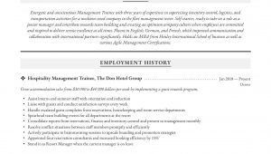Sample Resume for Management Trainee Position Management Resume & Writing Guide 12 Examples