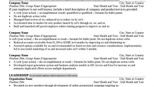 Sample Resume for Mba College Interview Mays Mba Resume format – Career Management Center