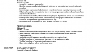 Sample Resume for Medical Billing and Coding Student Medical Billing Resumes Examples Free Resume Templates
