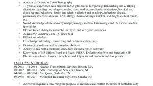 Sample Resume for Medical Transcriptionist without Experience Medical Transcription Resume Samples 2019 Lebenslauf Vorlage