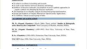 Sample Resume for Msc Chemistry Freshers Download Graduate Fresher Resume Resume format for Msc Chemistry