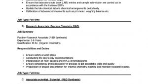 Sample Resume for Msc Chemistry Freshers Freshers Msc Chemistry Research Jobs at Drils by Biotecnika – issuu