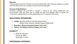 Sample Resume for New Job Seekers Sample Resumes First Time Job Seekers attractive How to
