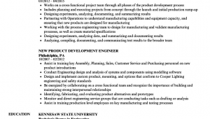 Sample Resume for New Product Development Engineer New Product Development Engineer Resume Samples