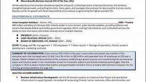 Sample Resume for Nonprofit Board Position Board Of Directors Resume Examples – Distinctive Career Services