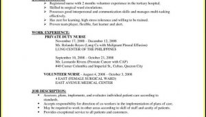 Sample Resume for Nurses with Experience In the Philippines Resume Sample for Nurses without Experience Philippines