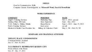 Sample Resume for Ojt Psychology Students Resume for Ojt Psychology Student