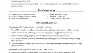 Sample Resume for Phlebotomist with Experience Phlebotomist Resume Sample Monster.com