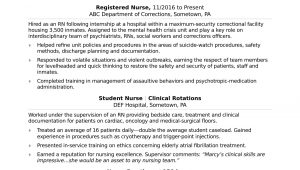 Sample Resume for School Nurse Position Registered Nurse (rn) Resume Sample Monster.com