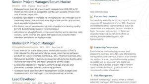 Sample Resume for Scrum Master Role Agile Scrum Master Resume Examples & Guide for 2021