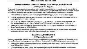 Sample Resume for social Worker Intern social Worker Resume Sample Monster.com
