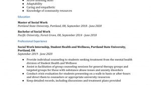 Sample Resume for social Worker with No Experience social Work Resume Examples – Resumebuilder.com