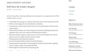 Sample Resume for Staff Nurse Position Staff Nurse Resume Example