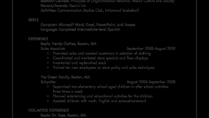 Sample Resume for Student with No Job Experience 免费 Sample Resume for College Student with No Work