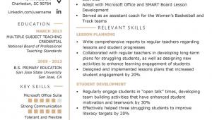 Sample Resume for Substitute Teacher Position Substitute Teacher Resume Samples & Writing Guide
