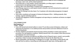 Sample Resume for Tax Consultant In India Tax Consultant Resume Samples