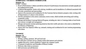 Sample Resume for tourism Fresh Graduates tourism Resume Samples