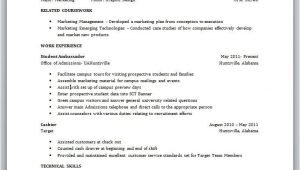 Sample Resume for Undergraduate Student with No Experience Sample Resume for A College Student with No Experience