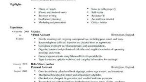 Sample Resume for Virtual assistant with No Experience No Work Experience Cv Sample Ten Precautions You Must Take