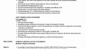 Sample Resume for Vlsi Engineer Fresher Resume format Vlsi Design Engineer Resume format