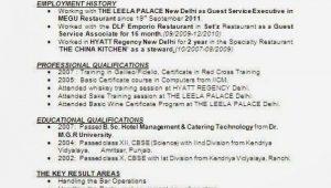 Sample Resume format for Hotel Industry 13 Cv format for Hotel Job Inspirations In 2021 Job Resume …