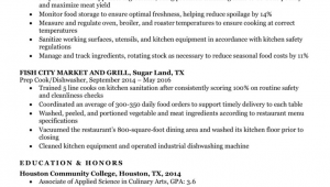 Sample Resume format for Indian Cook Prep Cook Resume Sample & Writing Tips