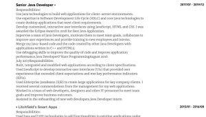 Sample Resume Java Developer 3 Years Experience Java Developer Resume Samples All Experience Levels Resume.com …