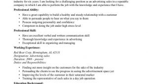 Sample Resume Objective for Sales Position Sales Advertising Resume Objective Sample Resume Objectives …