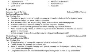 Sample Resume Objectives for Security Officer Guard Security Officer Resume Job Resume Samples Resume …