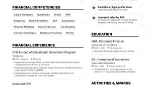 Sample Resume Of Cfo In India Chief Financial Officer Resume: 2021 Guide with Examples