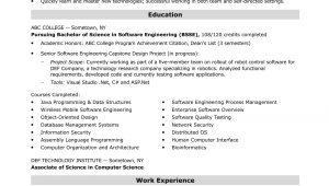 Sample Resume software Engineer Entry Level Entry-level software Engineer Resume Sample Monster.com