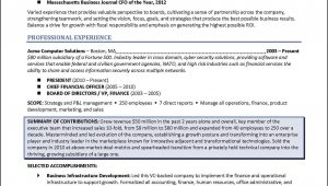 Sample Resume with Board Member Experience Board Of Directors Resume – Example for Corporate or Nonprofit …