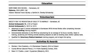Sample Resume without High School Diploma High School Grad Resume Sample Monster.com