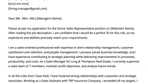 Sample Sales Cover Letters for Resumes Sales Cover Letter Example & Writing Tips